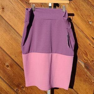 Lularoe Cassie pencil skirt purple and pink